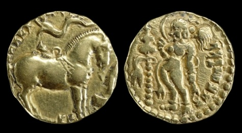 Gold coin of Kumaragupta I